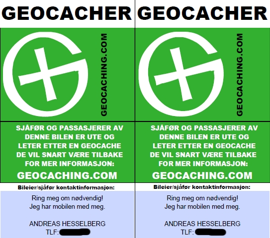 Geocachere parkerer nær sagt hvor som helst!