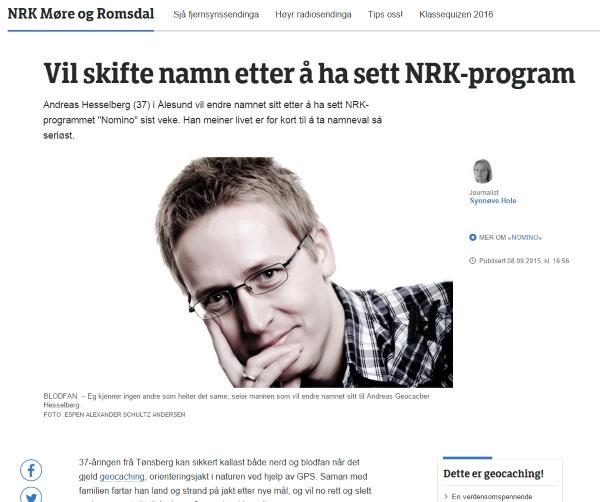 Jeg ble intervjuet av NRK!