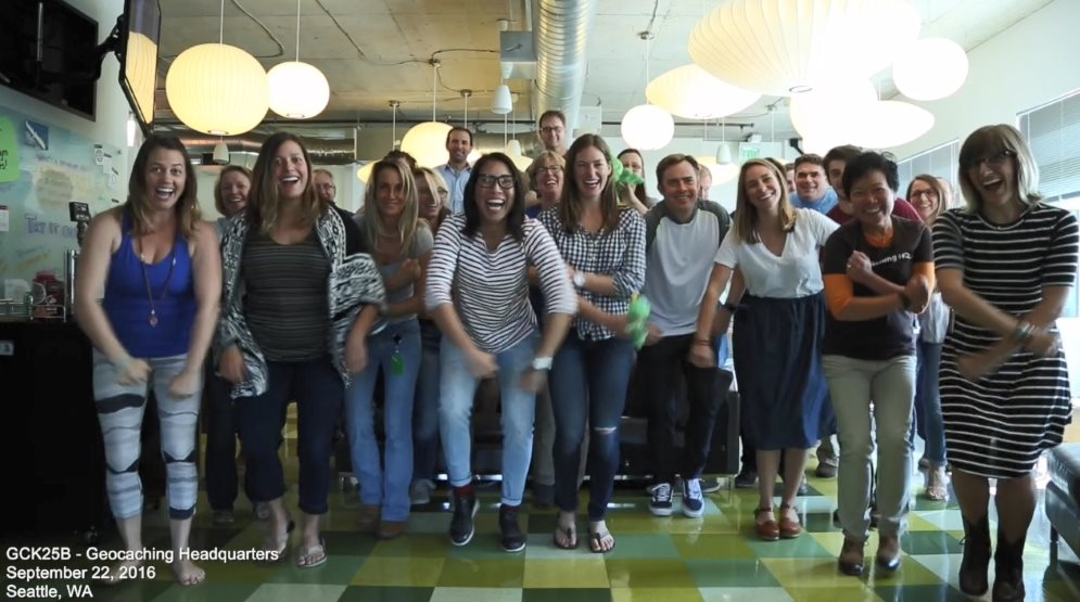 Fikk en videogave fra Geocaching headquarters i Seattle!