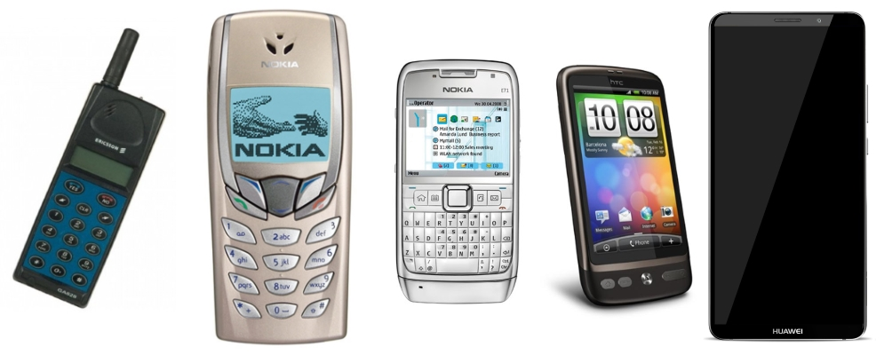 Hvilke mobiltelefoner har du hatt?