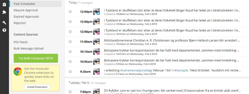 """""""Okkupasjonen live"""" bytter publiseringsplattform"""